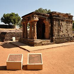 Buddhist Vihara Sanchi in Sanchi