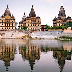 Chattris (Cenotaphs) in Orchha