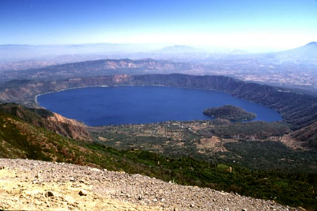 Coatepeque Lake in Santa Ana