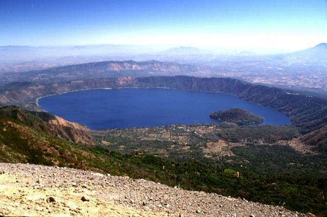 Coatepeque Lake in Santa Ana