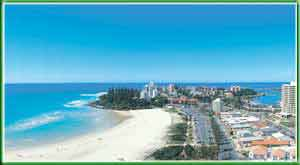 Coolangatta Beach in Queensland