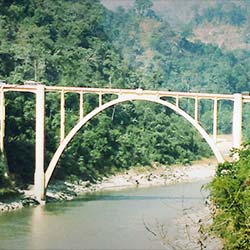 Coronation Bridge in Siliguri