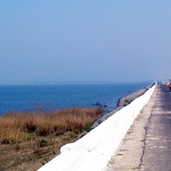 Hirakud Reservoir in Sambalpur