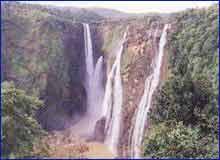 Honnemaradu Falls in Shimoga