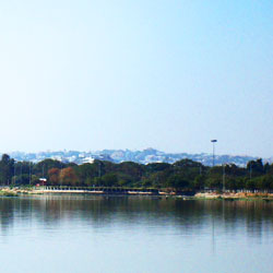 Hussain Sagar Lake in Hyderabad