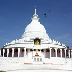 Japanese Peace Pagoda in Galle