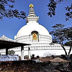 Japanese Stupa Rajgir in Rajgir