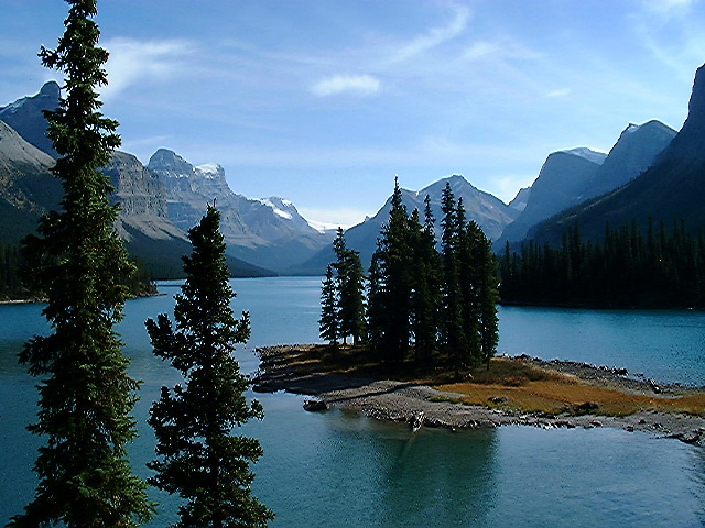 Jasper National Park of Canada in Alberta