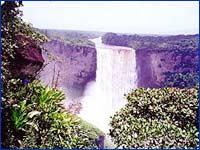 Kaieteur Falls in Potaro-Siparuni
