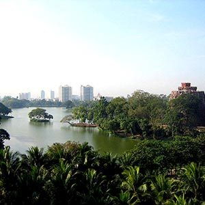 Kandawgyi Lake in Yangon