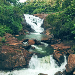 Kanthanpara Waterfalls in Wayanad