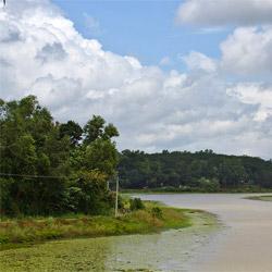 Karamana River in Kovalam