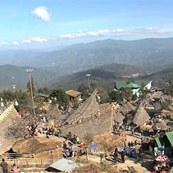 Kisama Heritage Village in Kohima