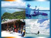 Kite Surfaris in Philippines in Palawan