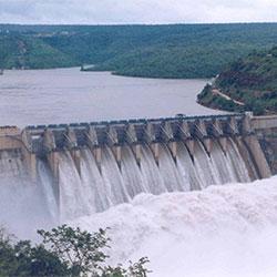 Linganamakki Dam in Shimoga