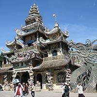 Linh Phuoc Pagoda in Dalat