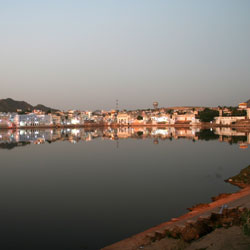Luni River in Pushkar