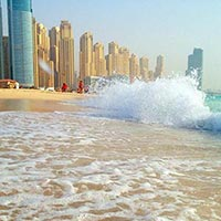 Marina Beach, Dubai in