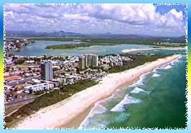 Maroochydore Beach in Sunshine Coast