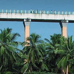 Mathur Aqueduct in Kanyakumari