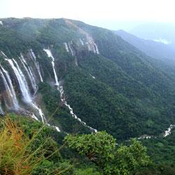 Mawsmai Falls in Cherrapunji