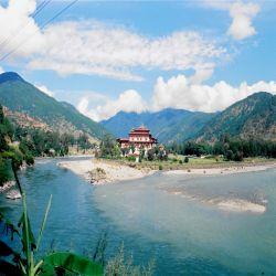Mo Chhu in Punakha
