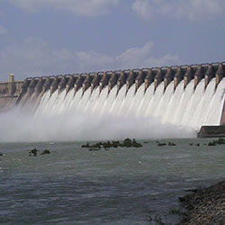 Nagarjunasagar Dam in Nagarjunakonda