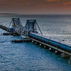 Pamban Bridge in Rameswaram