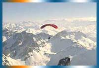 Paragliding in Bareges in Bareges