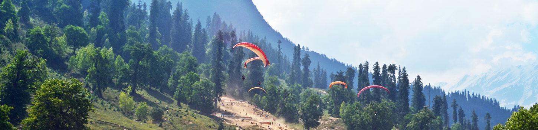 Paragliding in Solang Nala