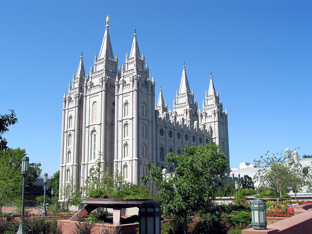 Salt Lake Temple in Utah
