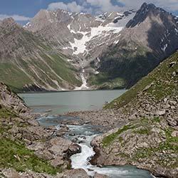 Sheshnag Lake in Pahalgam