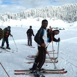 Skiing in Kashmir in Kashmir