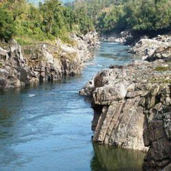 Subansiri River in Daporijo