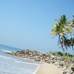 Thirumullavaram Beach in Kollam