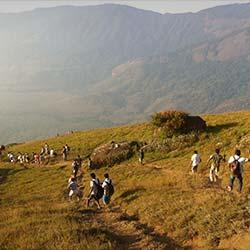 Trekking in Versery Hill in Ravangla