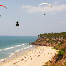 Varkala Beach in Thiruvananthapuram