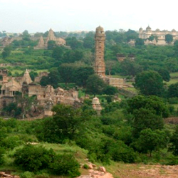 Vijay Stambh (Tower of Victory) in Chittorgarh