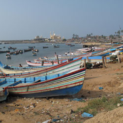 Vizhinjam Village in Kovalam