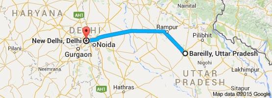 Bareilly To Delhi Taxi Tour