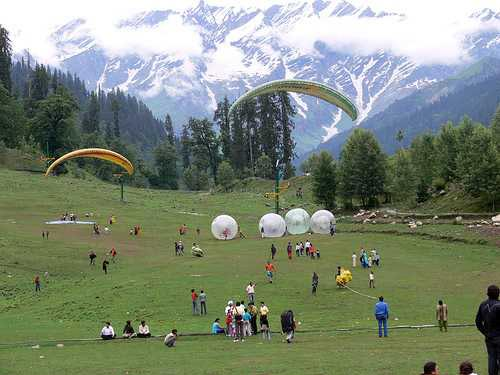 Paragliding in Kullu Manali tour package