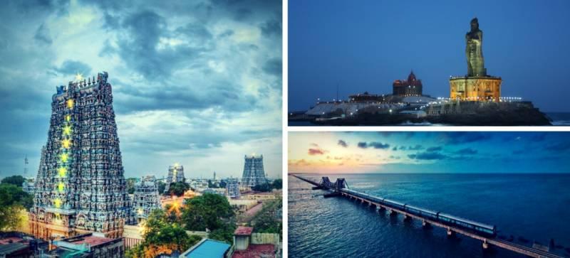 Madurai Rameshwaram Kanyakumari Trivandrum