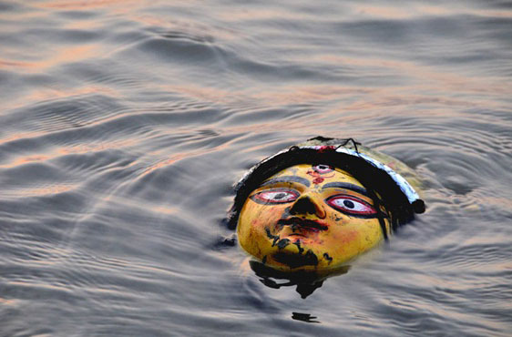 Grand Immersion Trip Of Durga Idol At River Ganga