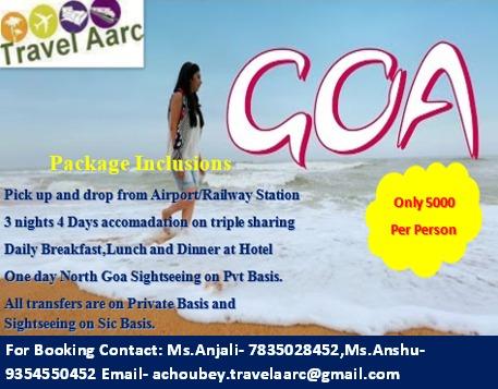 3 Night 4 Days Goa Package