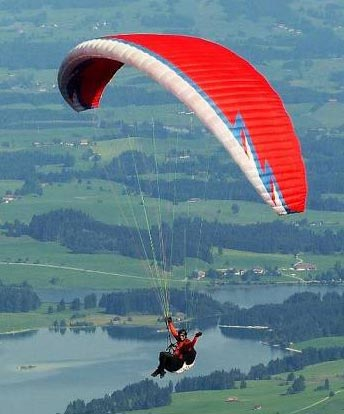 Adventure Rope Course And Paragliding Tour