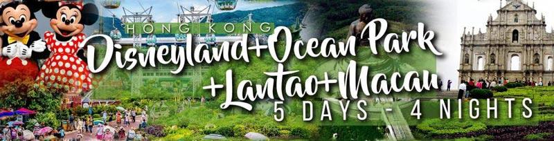 5D | 4N Disney + Oceanpark + Lantau + Macau Package
