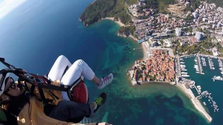 Paragliding Above Budva Tour