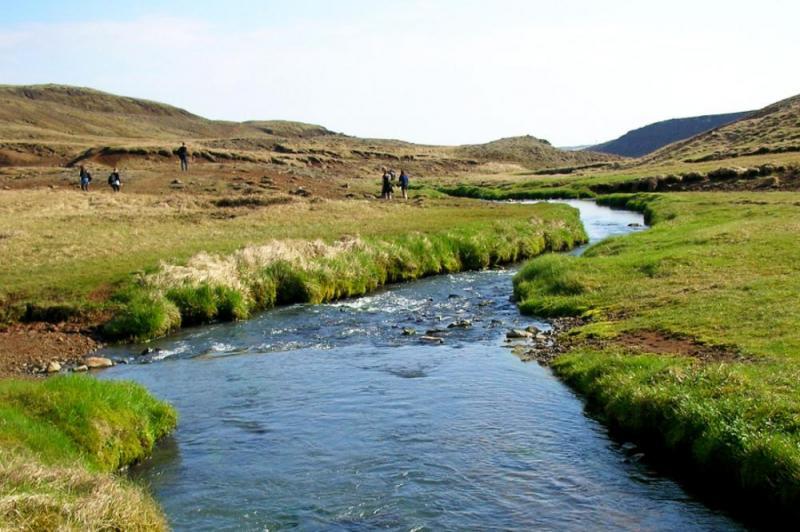 Hiking Tour In Reykjadalur Iceland Steam Valley