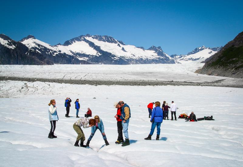 Juneau Mendenhall Glacier Guided Walk Via Helicopter Package