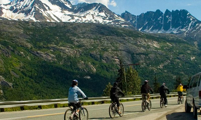Skagway White Pass Train And Bicycle Tour Package
